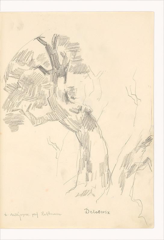 Dezider Milly – Kresba podľa Delacroixa (Strom)