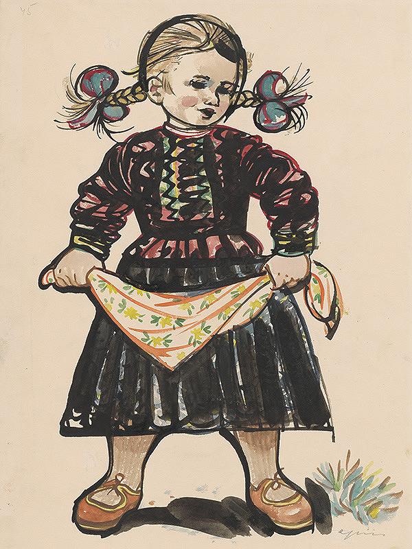 Štefan Cpin - Dievčatko so stuhou vo vlasoch