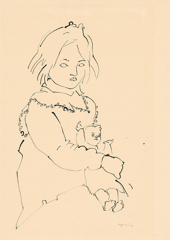 Štefan Cpin - Dievčatko s bábikou