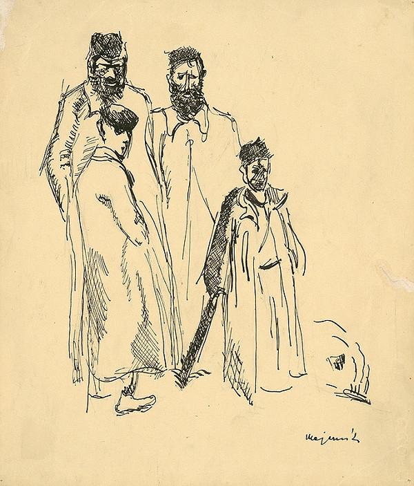 Cyprián Majerník - Kresba k poviedke Studňa mudrcov od Selmy Lagerlöfovej