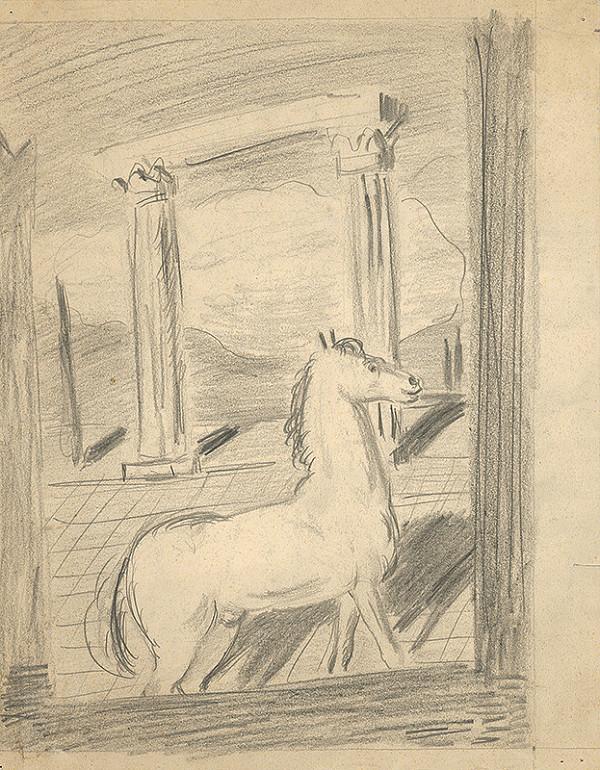 Cyprián Majerník - Náčrt k obrazu Osamelý kôň