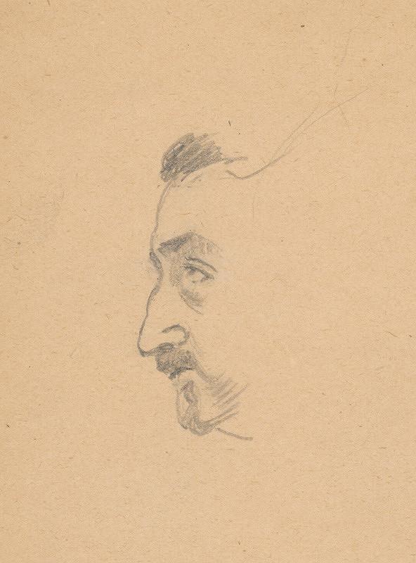 Ivan Žabota - Hlava muža z profilu I.