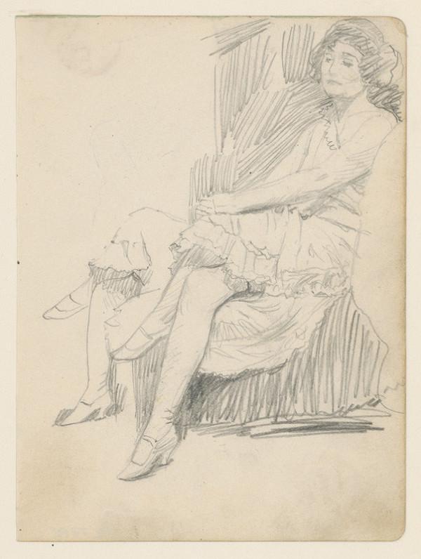 Ivan Žabota - Sediaca žena vo foteli