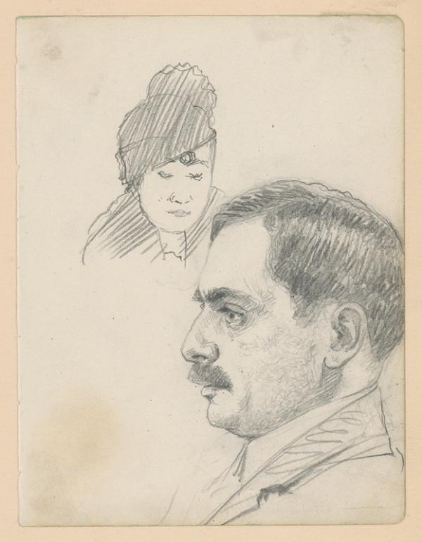 Ivan Žabota - Štúdia ženskej a mužskej hlavy