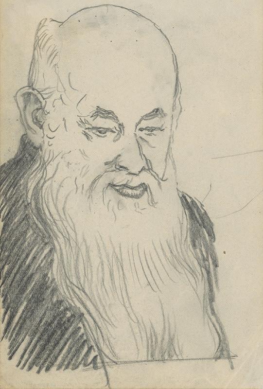 Ivan Žabota - Hlava muža s dlhou bradou