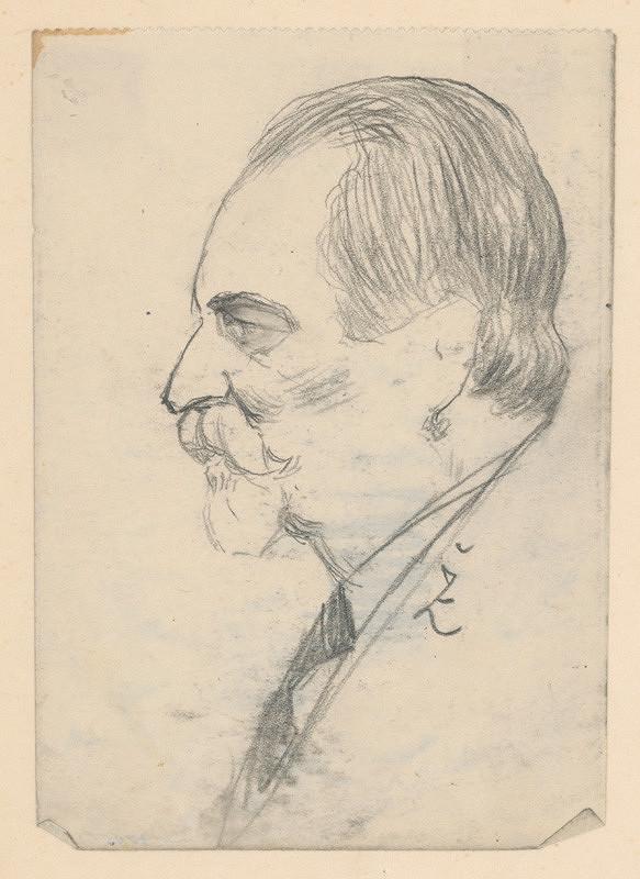 Ivan Žabota - Hlava muža s bradou a fúzami