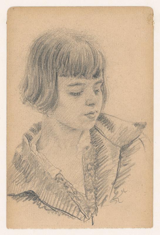 Ivan Žabota – Portrétna štúdia mladého dievčaťa