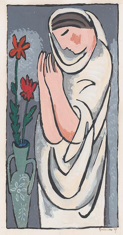 Mikuláš Galanda - Žena a kvet