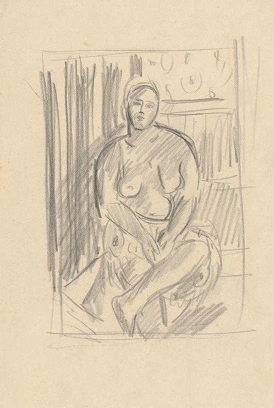 Eugen Nevan - Sediaci akt s preloženou nohou