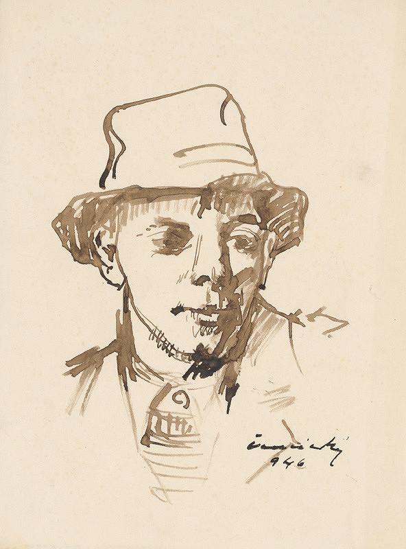 Ladislav Čemický – Hlava muža v klobúku