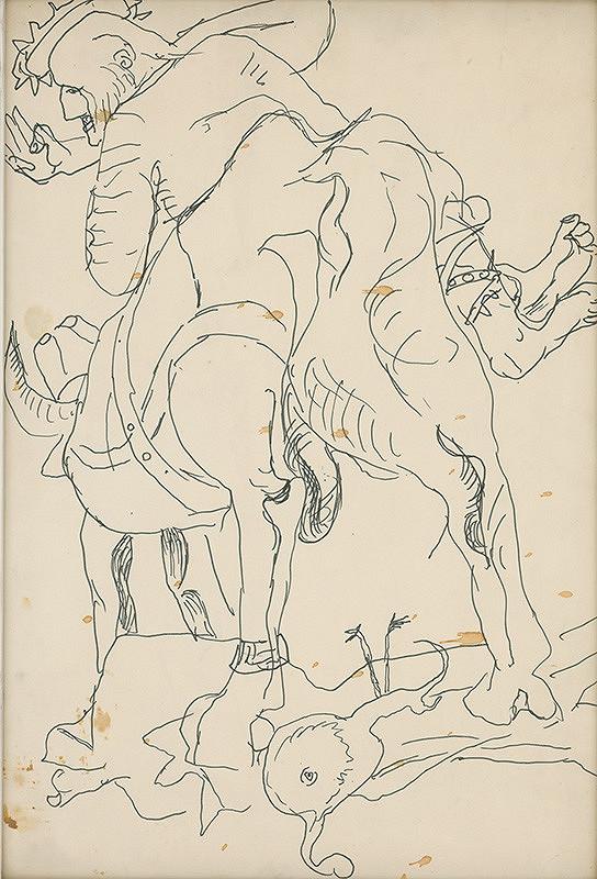 Milan Mravec - Kresba z cyklu Hľadanie pravdy