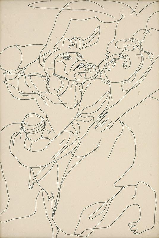 Milan Mravec - 4.Kresba z roku 1972