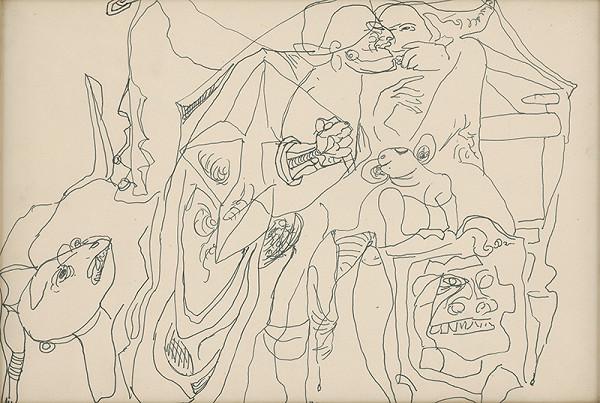 Milan Mravec - 3.Kresba z roku 1972