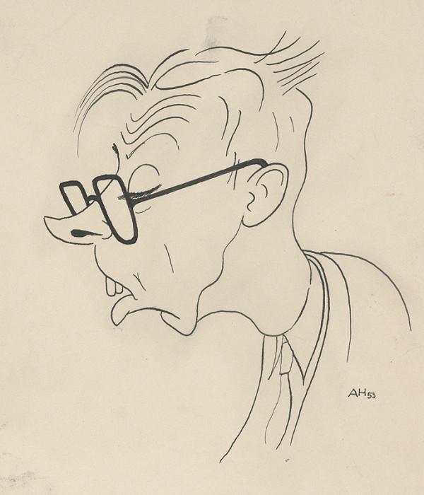 Adolf Hoffmeister - Karikatúrna kresba Štefan Bednár