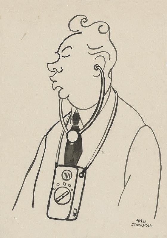 Adolf Hoffmeister - Karikatúrna kresba - Vojtech Mihálik
