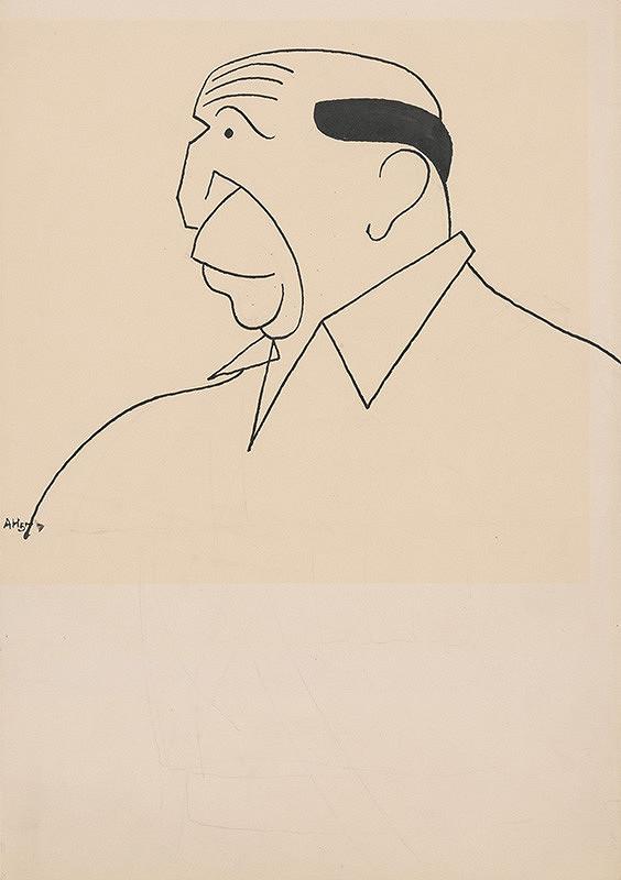 Adolf Hoffmeister - Karikatúrna kresba - Andrej Bagar