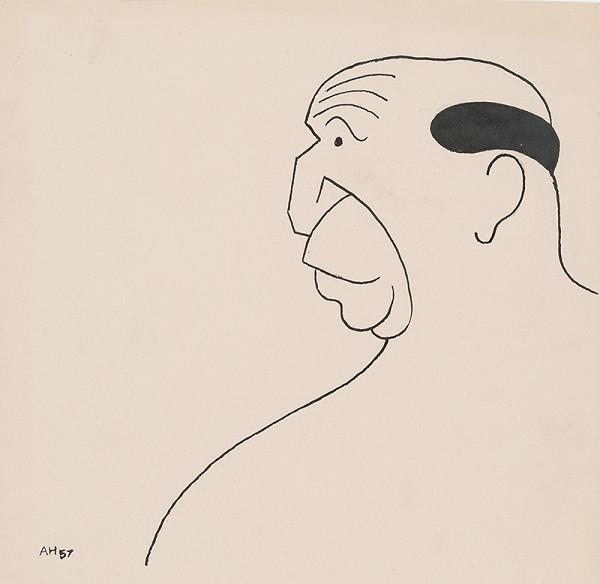 Adolf Hoffmeister - Karikatúrna kresba - Andrej Bagar II.