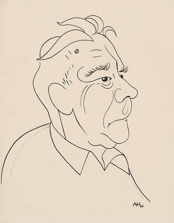 Adolf Hoffmeister – Karikatúrna kresba - Laco Novomeský