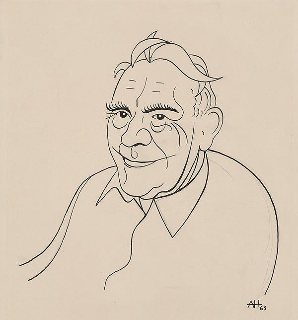 Adolf Hoffmeister - Karikatúrna kresba - Laco Novomeský II.