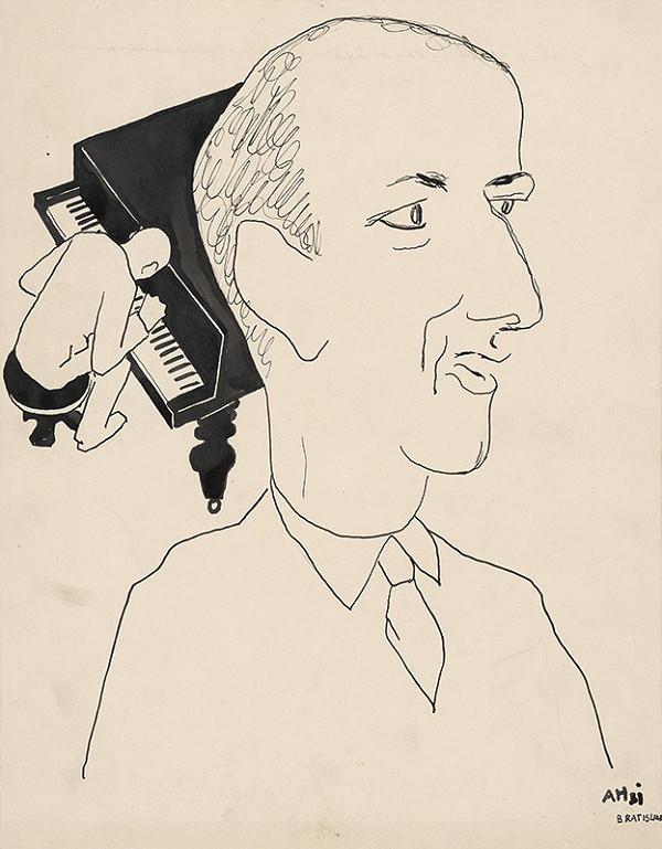 Adolf Hoffmeister - Karikatúrna kresba Okáli