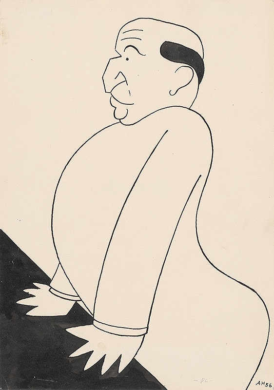Adolf Hoffmeister - Karikatúrna kresba - Andrej Bagar V.