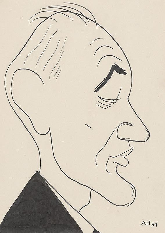 Adolf Hoffmeister – Rybák I. - karikatúrna kresba