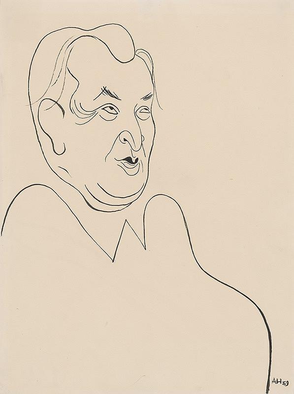 Adolf Hoffmeister – Karikatúrna kresba Pavol Horov