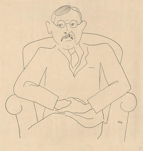 Adolf Hoffmeister - Karikatúrna kresba  Setov-Waton