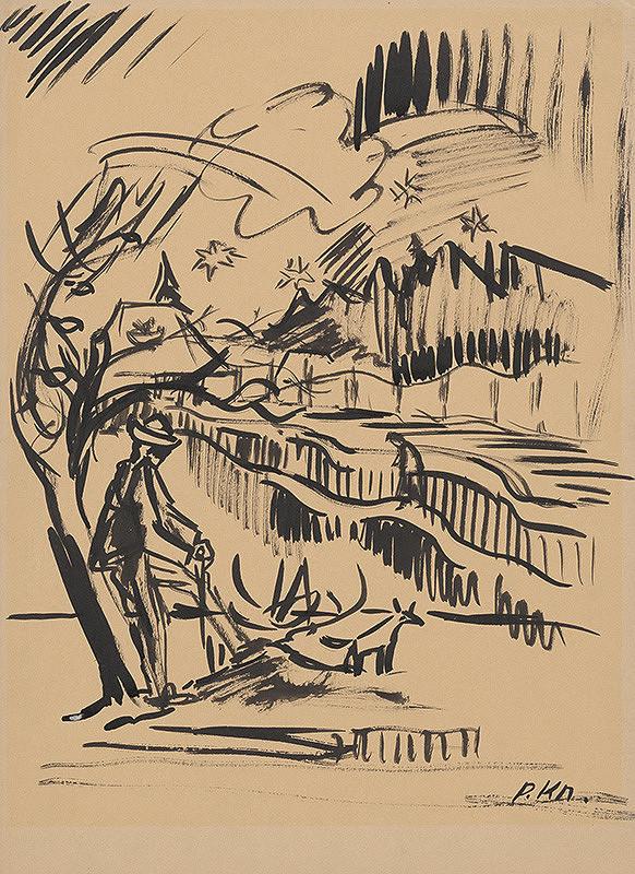 Arnold Peter Weisz-Kubínčan - Oddychujúci pastier