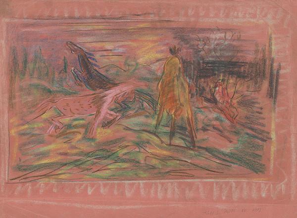 Arnold Peter Weisz-Kubínčan - Kone na pastve