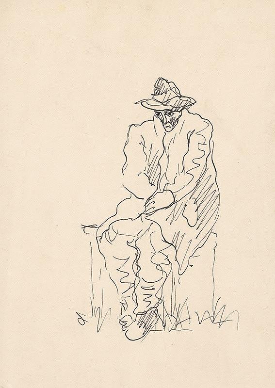 Arnold Peter Weisz-Kubínčan - Sediaci muž v klobúku