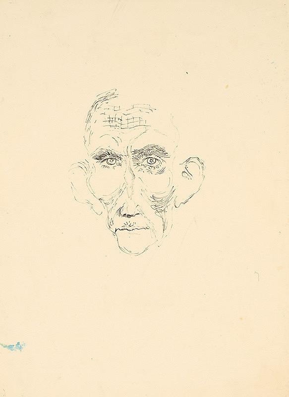 Arnold Peter Weisz-Kubínčan - Skica hlavy starca