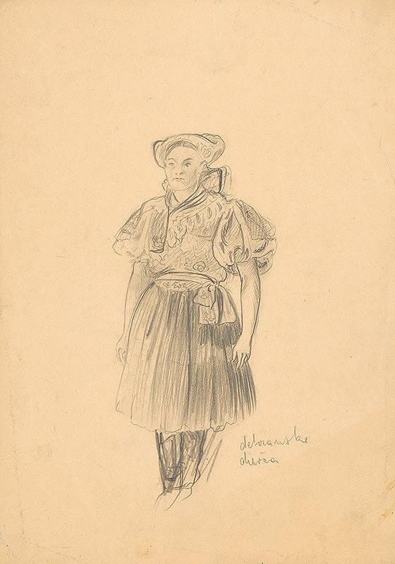 Arnold Peter Weisz-Kubínčan - Detvianské dievča