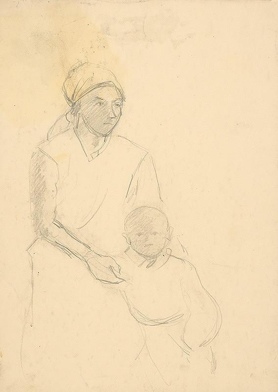 Arnold Peter Weisz-Kubínčan – Matka s dieťaťom