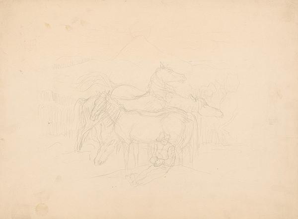 Arnold Peter Weisz-Kubínčan - Pastier s koňmi