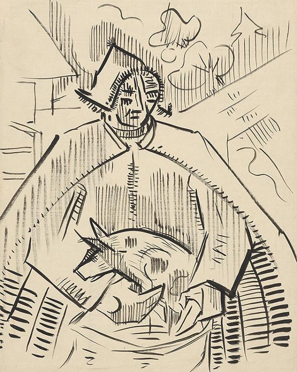 Arnold Peter Weisz-Kubínčan - Muž s prasiatkom
