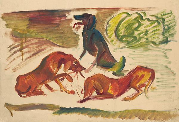 Arnold Peter Weisz-Kubínčan - Psi v krajine