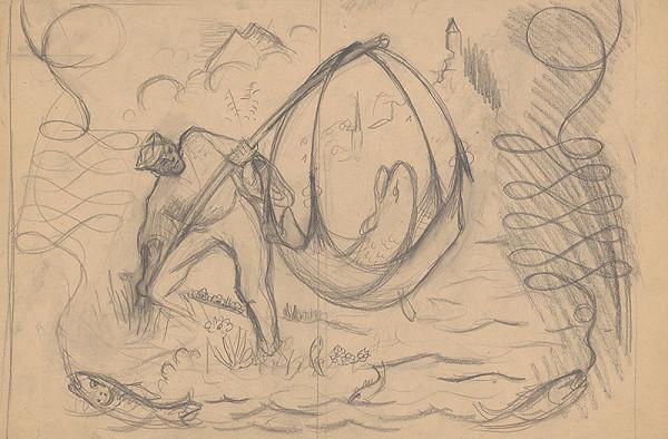 Arnold Peter Weisz-Kubínčan - Rybár so svojím úlovkom