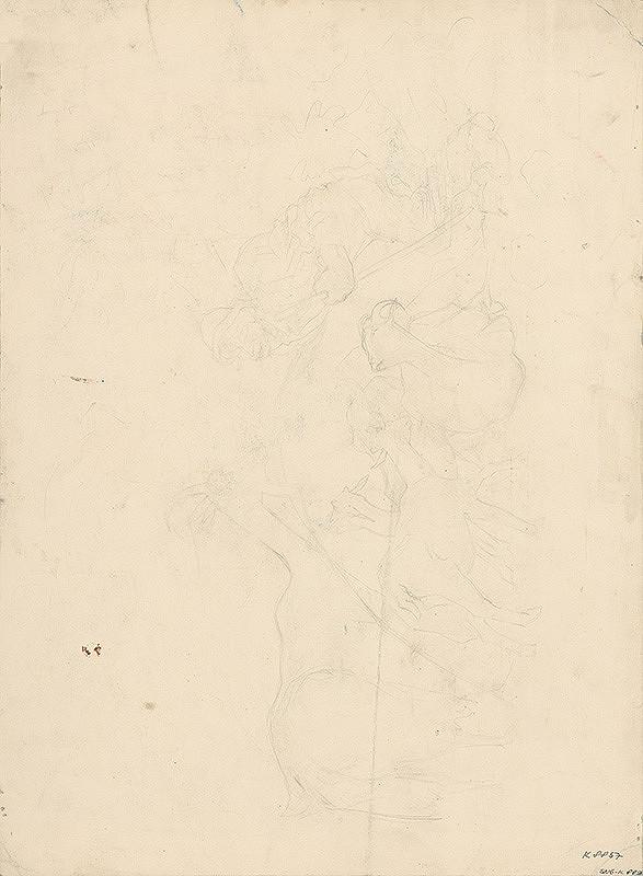 Arnold Peter Weisz-Kubínčan - Náčrt pastiera s kozami
