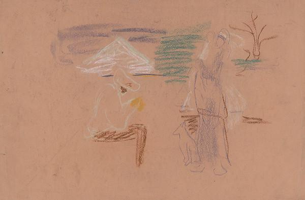 Arnold Peter Weisz-Kubínčan - Figurálny náčrt