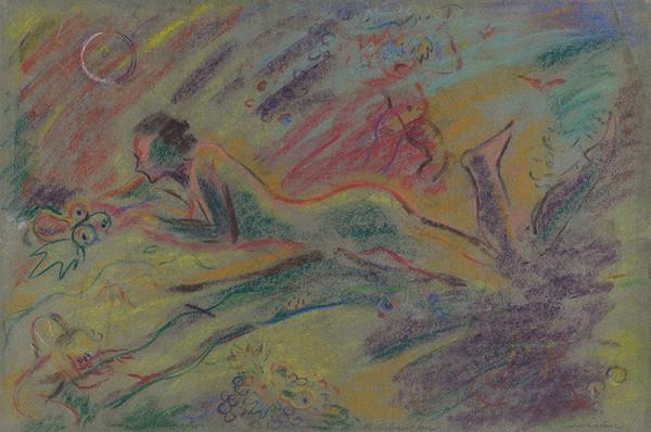 Arnold Peter Weisz-Kubínčan – Ležiaci ženský akt v krajine