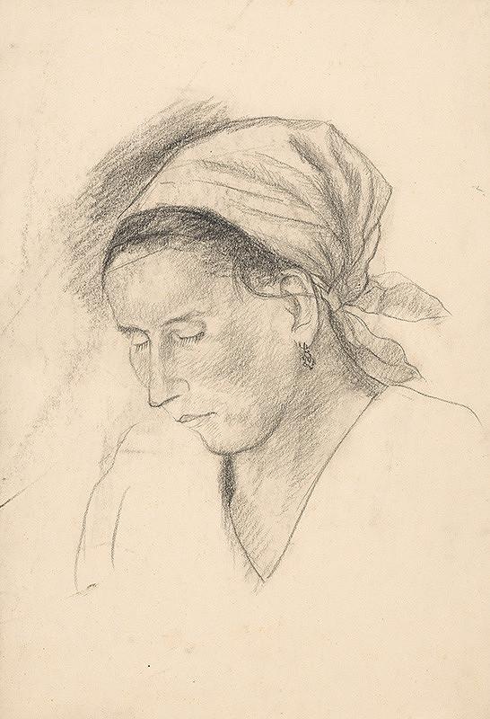 Arnold Peter Weisz-Kubínčan - Žena v šatke