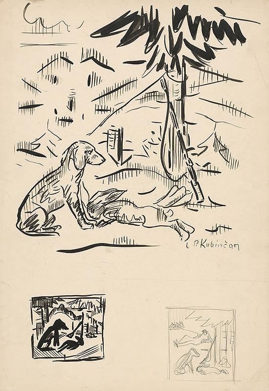 Arnold Peter Weisz-Kubínčan - Náčrty poľovníckych motívov