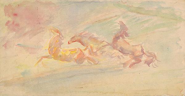 Arnold Peter Weisz-Kubínčan - Cválajúce kone
