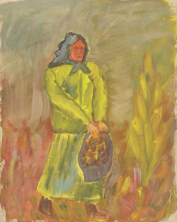 Arnold Peter Weisz-Kubínčan - Žena s košíkom