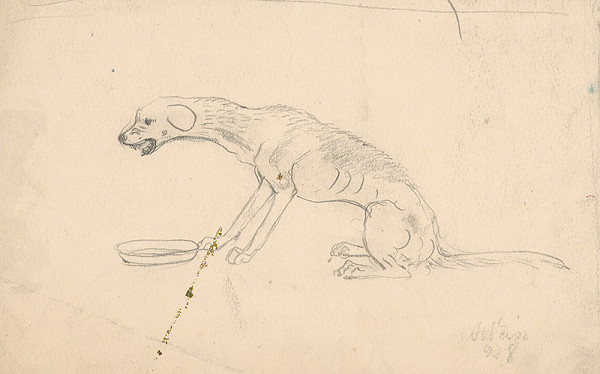 Arnold Peter Weisz-Kubínčan - Pes pri miske