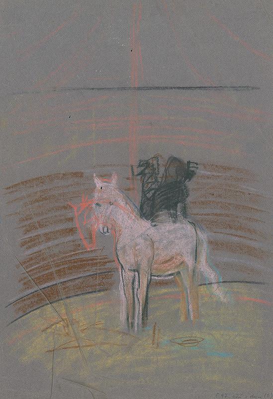 Arnold Peter Weisz-Kubínčan - Náčrt koňa v manéži