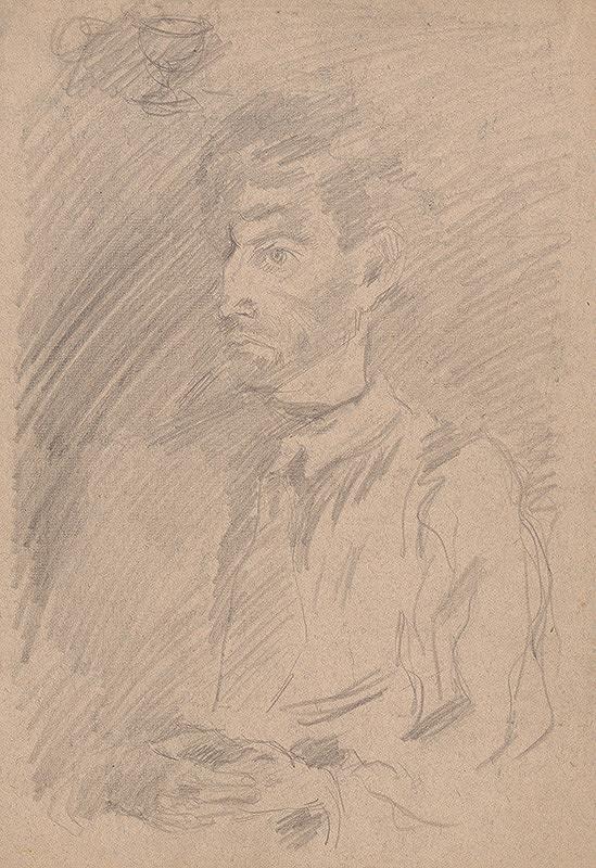 Arnold Peter Weisz-Kubínčan – Portrét muža z trojštvrťového profilu