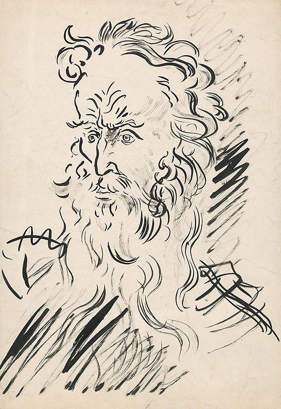Arnold Peter Weisz-Kubínčan - Hlava starca s bradou