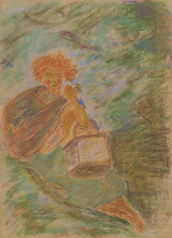 Arnold Peter Weisz-Kubínčan – Odpočívajúca žena s košíkom